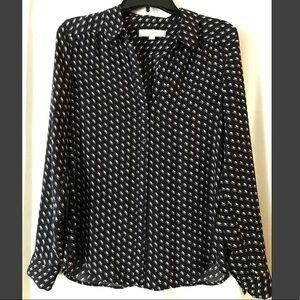 ANN TAYLOR LOFT. Sheer button up shirt